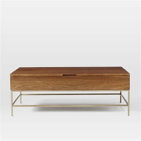 scroll to next item storage coffee table on wheels