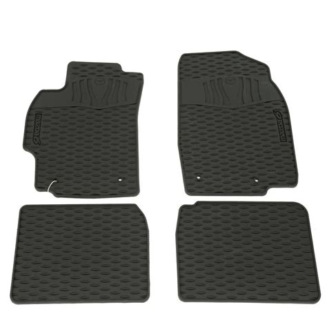 mazda floor mats  weather set  black oem ebay