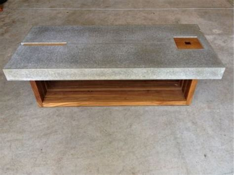 concrete and wood coffee table coffee table pinterest