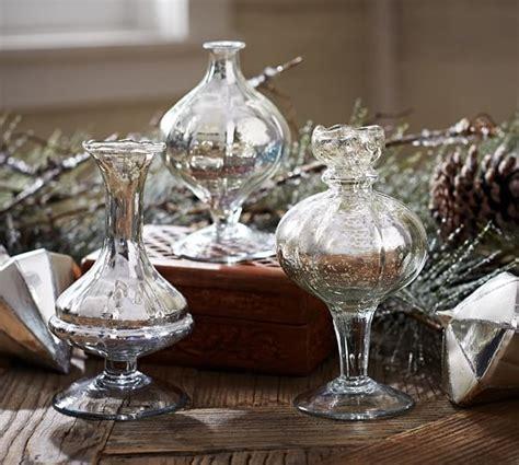 Mercury Glass Bud Vases by Mercury Glass Bud Vases Set Of 3 Pottery Barn