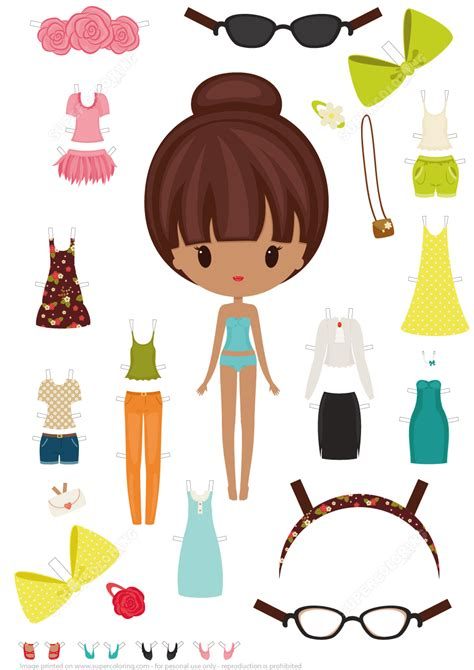 clothing shoes  accessories   girl paper doll