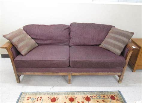 house of oak and sofa stickley upholstered oak sofa l j g stickley