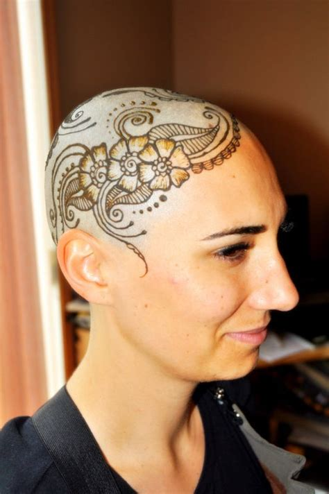 shaved head tattoo henna designs for bald heads with henna artist henna