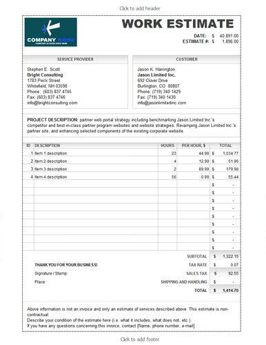Roofing Estimate Template by Roofing Estimate Template Free Premium