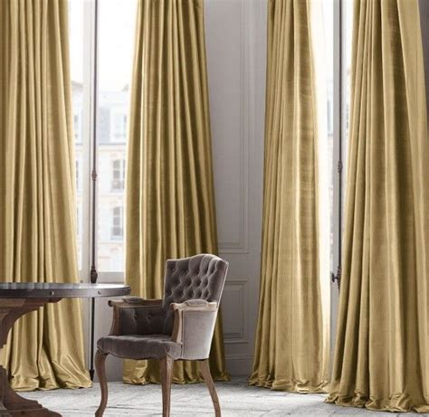 restoration hardware silk drapes 25 best ideas about gold curtains on pinterest black