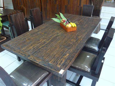 Meja Tv Kayu Biasa meja makan set kayu biasa karunia jaya