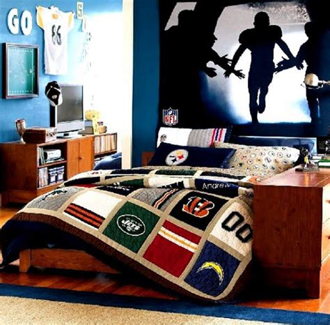 themes in black boy teens bedroom american football theme for your teen boys