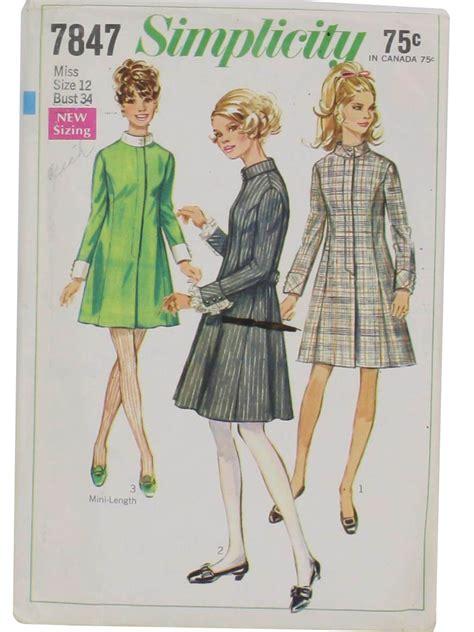 dress pattern no zip simplicity pattern no 7847 1960s vintage sewing pattern