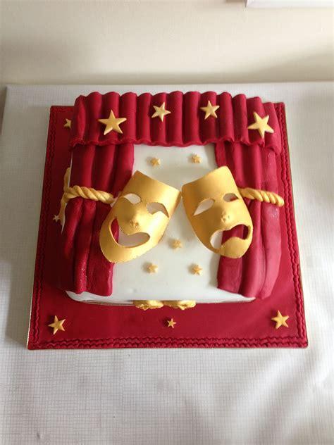 theatre comedytragedy mask cake carnaval pinterest
