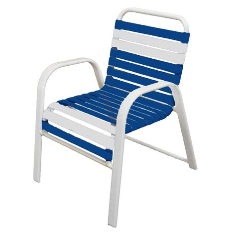 Marco Island White Commercial Grade Aluminum Patio Dining Blue And White Dining Chairs