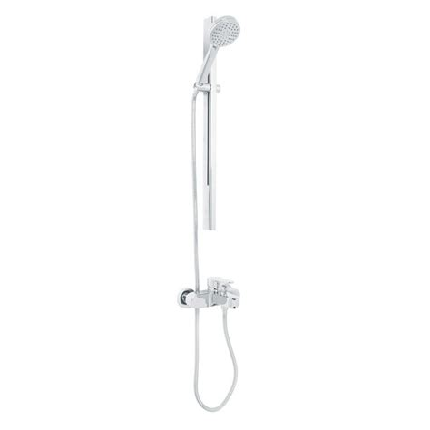 wall mounted thermostatic bath shower mixer vitalia premium wall mounted thermostatic bath shower mixer