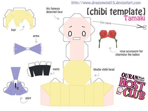 Chibi Papercraft Template - tamaki chibi template by dragonwind15 on deviantart