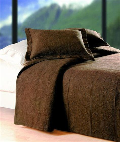 brown quilted coverlet chocolate brown matelasse quilted bedding