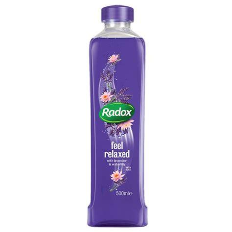 radox bath soak lavender waterlily ml bath body
