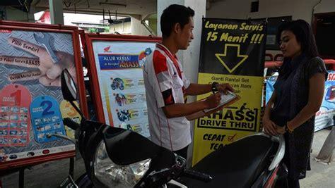 Alarm Motor Di Ahass pelayanan makin komplit konsumen yang service di ahass