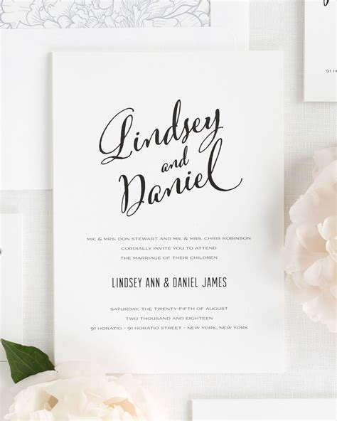 Unique Contemporary Wedding Invitations by Modern Script Wedding Invitations Wedding Invitations By