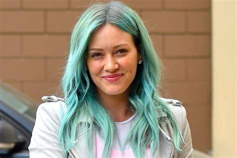 hilary duff hair color hilary duff dyes hair mermaid blue youbeauty