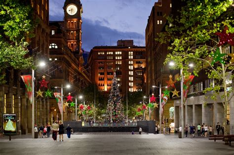 sunset on martin place at christmas craig jewell