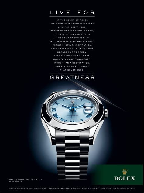 rolex print ads building a brand based on emotions competition