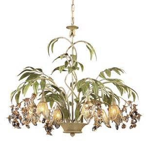 Tropical Chandelier Elk Lighting 86053 Huarco Chandelier