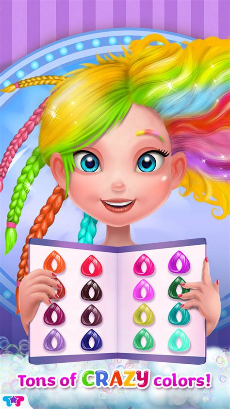 play new hairstyle makeover game online y8com play crazy hair salon pretty girl makeover game online