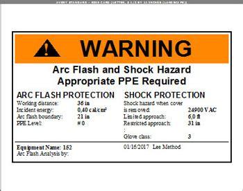 Arc Flash Report Template Cyme International Software Arc Flash Hazard Analysis