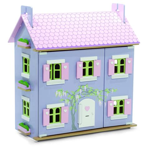 dolls house lavender dolls house with furniture by hibba toys of leeds notonthehighstreet com
