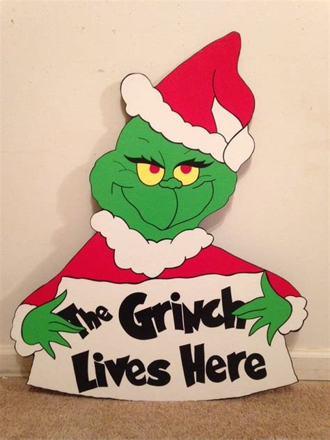 grinch pattern yard art grinch with sign christmas yard art decoration patterns