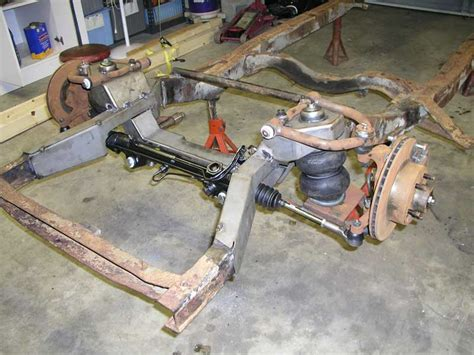 mustang 2 front clip dc metal fabricators and tci front suspension on a 50 woodie