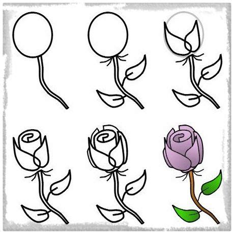 imagenes de flores para dibujar faciles paso a paso rosas en dibujo a lapiz para compartir dibujos de amor a