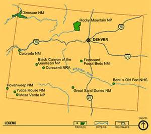 national parks in colorado map colorado national park map