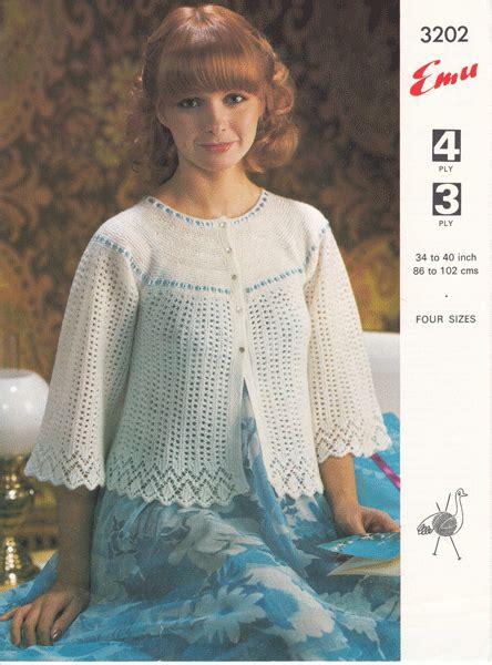 free knitting pattern bed jacket vintage bed jacket and bedwear knitting patterns from the