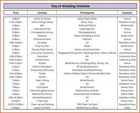 wedding schedule template doc 680650 wedding schedule template wedding itinerary