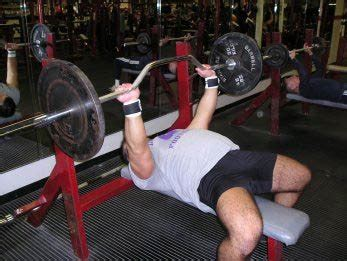 bench press touch chest exercise of the week flat barbell bench press