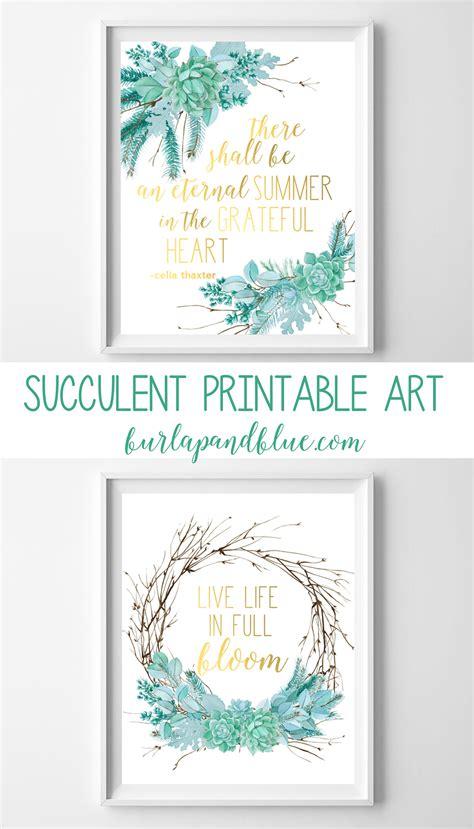 printable art gallery succulent arrangements free printable succulent wall art