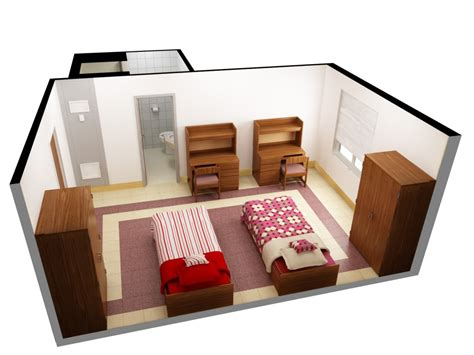 design your home 3d online free design room 3d online free with nice two single beds and