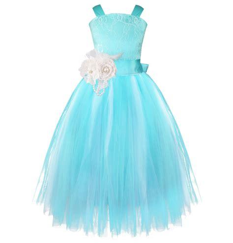 Blue Flower Back Dress Sml iefiel blue flower dress pageant wedding bridesmaid crossed back dress