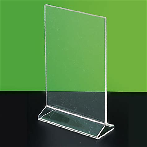acrylic sign holder display stand label holder picture