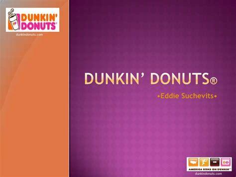 Dunkin Donuts Krispy Kreme Powerpoint Template