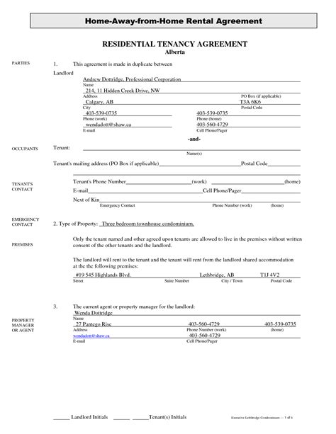 lease agreement template alberta alberta lease agreement template 28 images residential