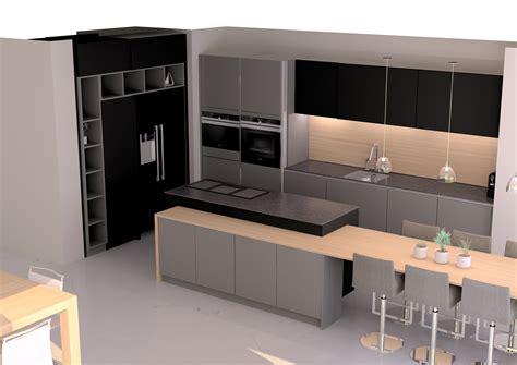 cuisine 駲uip馥 grise laqu馥 cuisine design en laque grise et sans poign 233 es avec