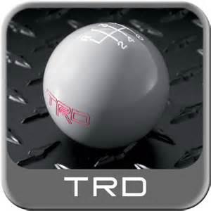 2005 2014 toyota tacoma shift knob gray w trd logo 6 speed