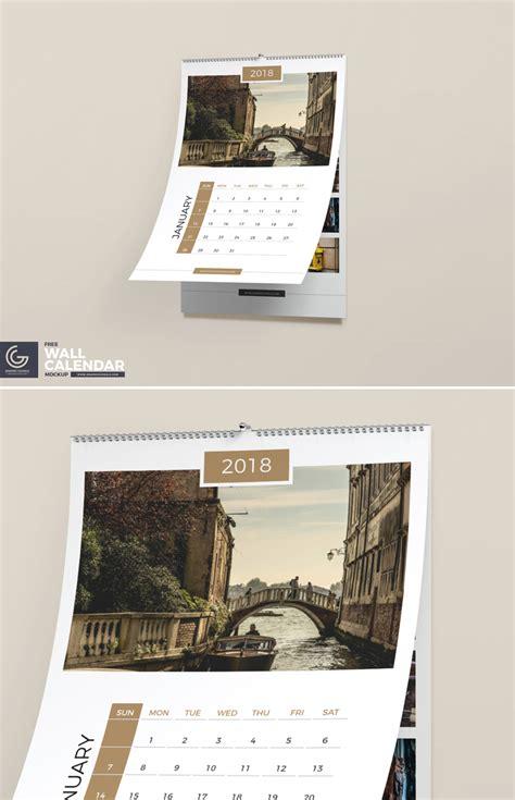 free wall calendar psd mockup template awesome mockups