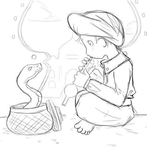 snake charmer coloring page snake charmer sketch by amalaric sniper on deviantart