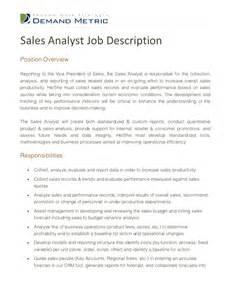 sles of descriptions templates sales analyst description