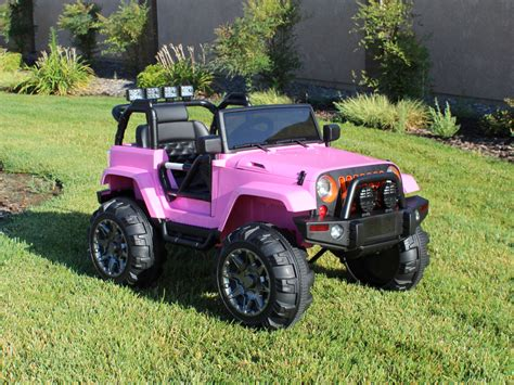 pink jeep power wheels ride on car 12v power wheels jeep truck remote