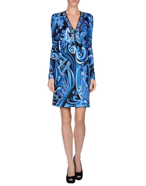 Emilio Pucci Dress emilio pucci kneelength dress in blue azure lyst