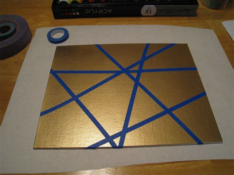 pattern making tape crafts 4 c easy canvas art