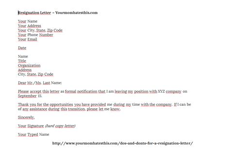 Resignation Letter Filetype Pdf resignation letters pdf doc