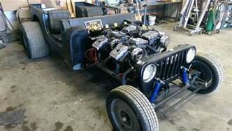 jeep with four harley motorcycle engines engine depot